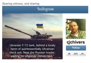 Зображення з українським прапором у звіті Нью Йорк Таймз