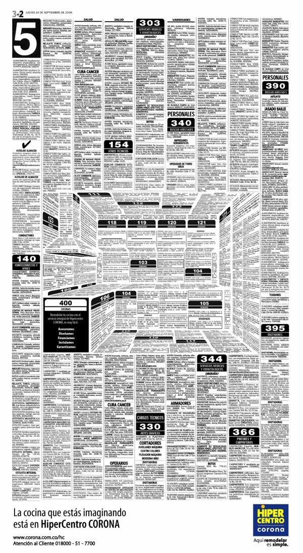 Креативна реклама кухонь в газеті оголошень