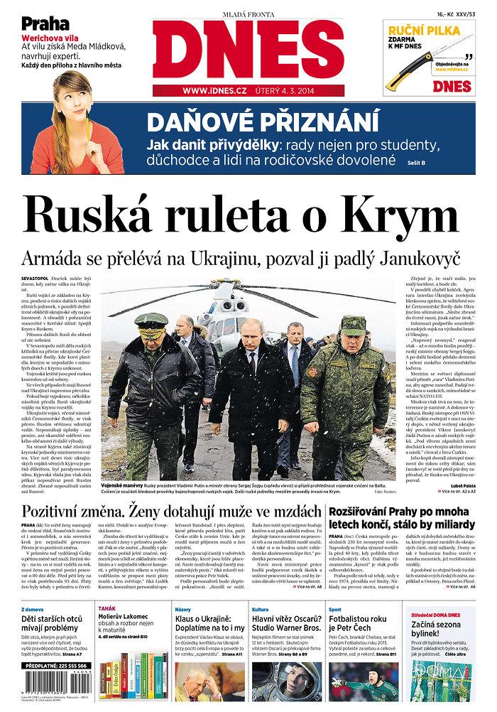 Dnes: Ruska ruleta o Krym