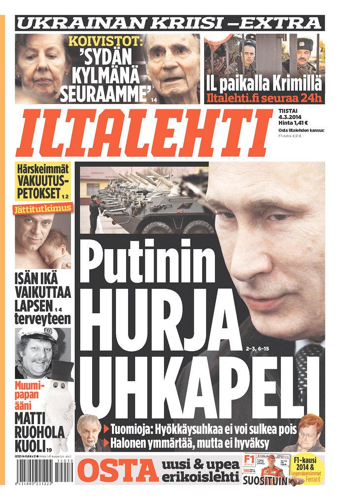 Iltalehti: Putinin hurja uhkapeli