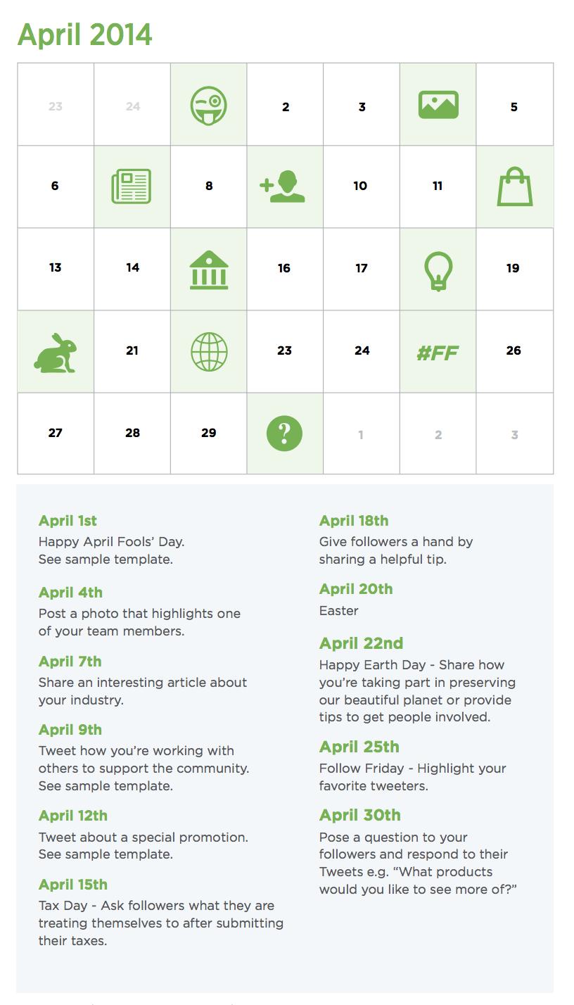 Контент календар публікацій