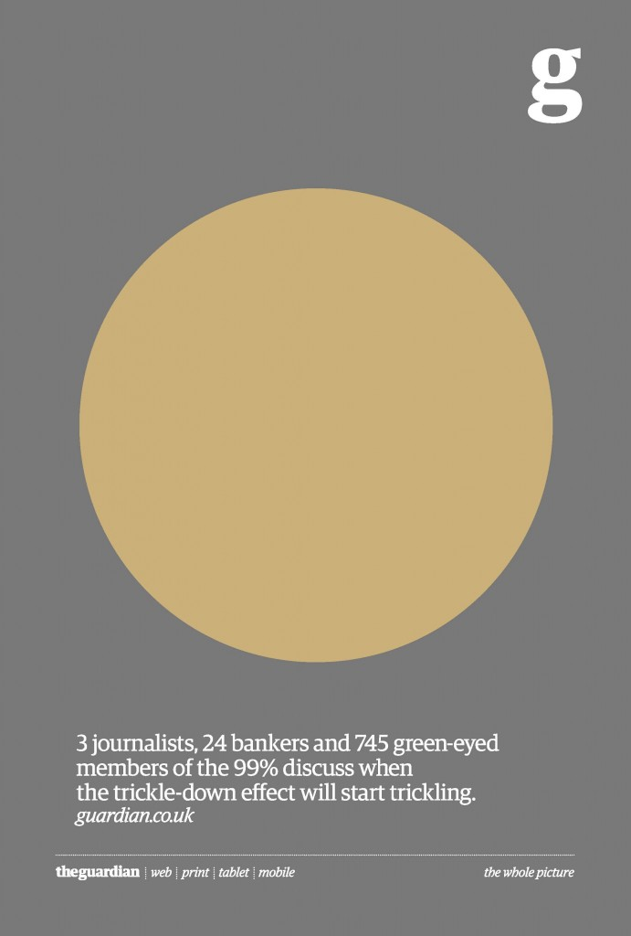 3 журналіста, 24 банкіра і 745 зеленооких  що належать до 99% дискутують коли ефект струмочку (ефект поступового стимулювання) почне просочуватися