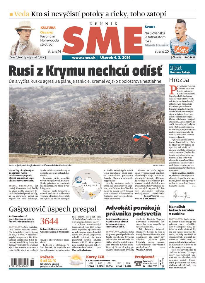 SME: Rusi z Krymu nechcu odist
